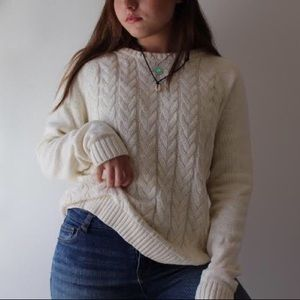 Brand new lands end cable knit sweater!